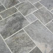 Pewter Polished & Filled Travertine Tiles