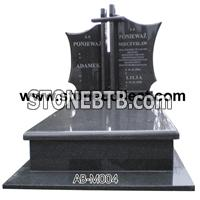 Black Granite European Style Monument AB-M004