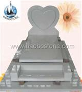 French heart styled tombstone