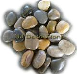 mixed beach pebble stone