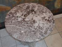"Camel Blue 3cm Granite tabletop 32"" diameter"