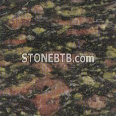 Peacock Green granite G391