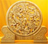 Stone Sculpture,Round Caving,Round Sculpture,Yellow Carving