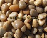 decorative yellow pebble garden stone