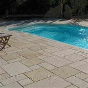 Yellow Limestone swimming pool coping