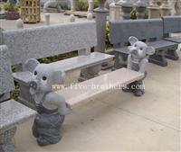 Granite Animal Bench