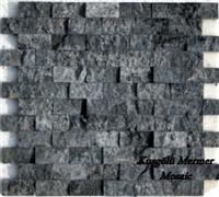 Dark Silver Travertine Mosaic K29