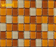 Orange and Red Crystal Glass Mosaic Tile For Swimming
