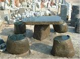 Garden Stone Table And Bench