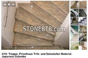 Juparana Colombo Granite Stairs and Steps