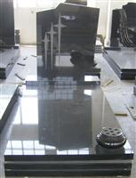 Chinese shanxi black granite tombstone