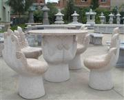 granite marble bench and table