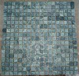Mosaics-Dark Green Tumbled