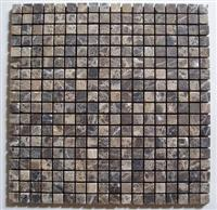 Mosaic Tiles-Emperador Dark Tumbled