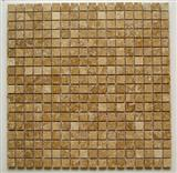 Mosaic Tiles-Travertine Polished