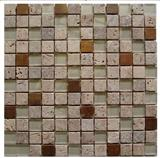 Travertine & Glass & Metal Mixed Mosaics