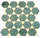 Green & Beige Marble Mixed Mosaics
