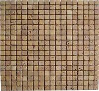 Mosaic Tiles-Travertine Gold Tumbled