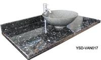 Bathroom Tops-Black Granite