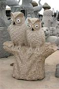Stone Sculpture-Tree Owl