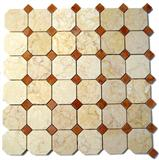 Red & Beige Marble Mixed Mosaics