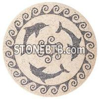 Round Carpet Mosaics With Whales