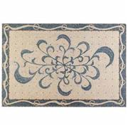 Square Carpet Mosaics With Blue Flowers