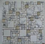 Marble & Mirror Glass Mixed Mosaics