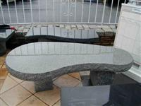 Curved Bench-Black Granite