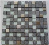 bluestone glass metal mixed mosaics