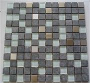 Bluestone & Glass & Metal Mixed Mosaics