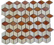 Beige & Red Marble Mixed Mosaics
