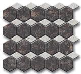 Brown & Grey Marble Mixed Mosaics