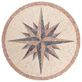 Round Carpet Mosaics With Stars
