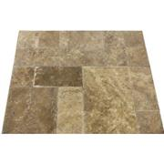 French Pattern Noce Travertine Chiseled Edge