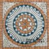 Marble and Travertine Mix Medallion KM-9