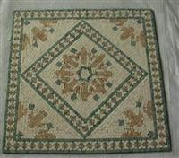 Travertine mosaic medallion