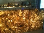 Brown Agate Semiprecious Stone Bar Top