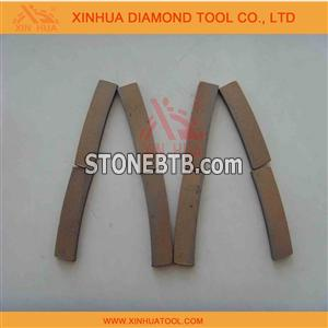 Diamond segment for marble