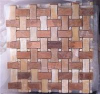 basket wave marble mosaic