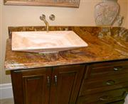 Multicolor Red Onyx Vanity Top