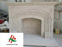Natural Colored Marble Fireplace