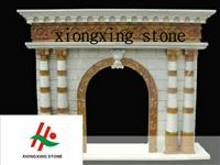 Natural Colored Stone Fireplace