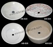 Round sinks, wash basins