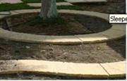 Landscaping reinforced Sleeper Stone Edgings