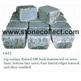 G612 Green Granite Tumbled Paving Stone