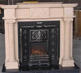 marble/granite fireplace, stone mantle
