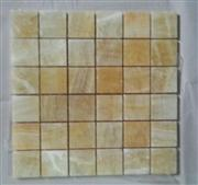 M-016 yellow Chinese onyx mosaic.