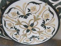 HM-017, Waterjet Medallion tile