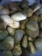 green pebble and cobble